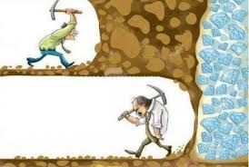 giving up before the breakthrough