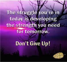 don't fight struggle