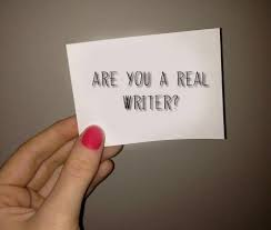 Are you a real writer