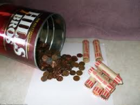 Coffee Can with money