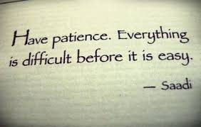Patience Through the Struggle